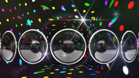 Disco Speaker AL2 HD Stock Video Footage