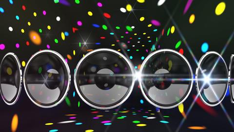 Disco Speaker AL2 HD Stock Video Footage