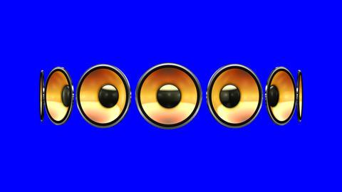 Disco Speaker AM2 HD Stock Video Footage