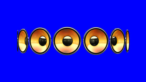 Disco Speaker AM2 HD Stock Video Footage