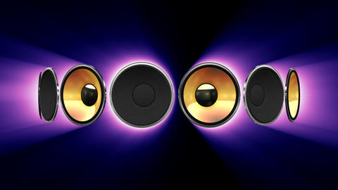 Disco Speaker AS1 HD Stock Video Footage