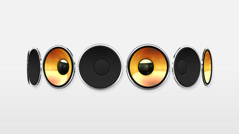 Disco Speaker AW2 HD Stock Video Footage