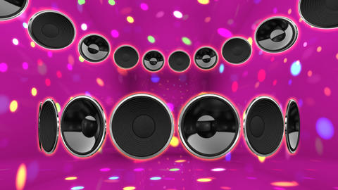 Disco Speaker CC2 HD Stock Video Footage