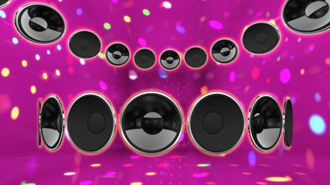 Disco Speaker CC2 HD Stock Video Footage