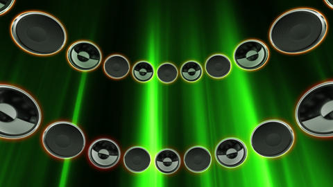 Disco Speaker CD2 HD Stock Video Footage