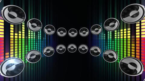 Disco Speaker CR1 HD Stock Video Footage