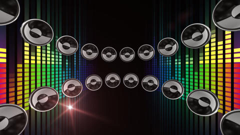 Disco Speaker CR1 HD Stock Video Footage
