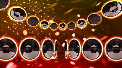 Disco Speaker CS2 HD Stock Video Footage