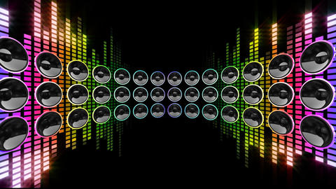 Disco Speaker DR1 HD Stock Video Footage