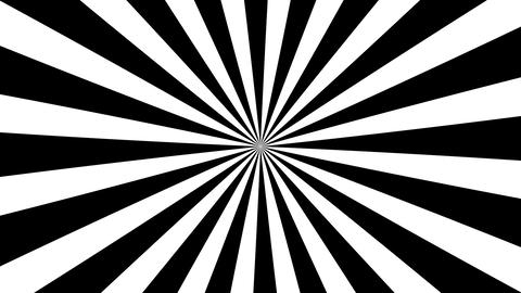 B&W Psychedelic Spinning Loop 01 Stock Video Footage