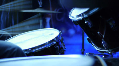 Drum Kit CU 01 Stock Video Footage