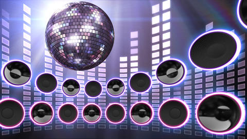 Disco Speaker CS4 HD Stock Video Footage