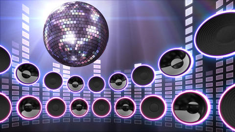 Disco Speaker CS4 HD Stock Video Footage