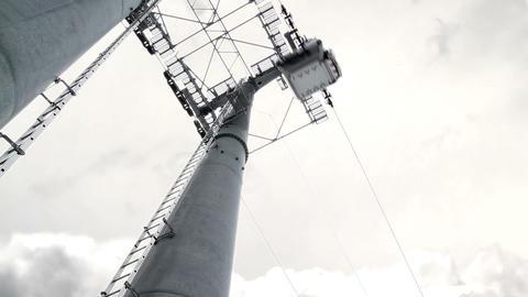 Ski-lift pylon Stock Video Footage