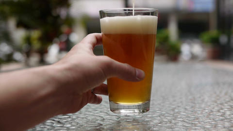 Beer Pour 02 Stock Video Footage