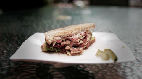 Sandwich 03 Stock Video Footage