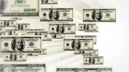 100 dollar bill flying Stock Video Footage