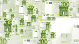 100 EURO bill flying Animation
