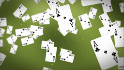 Ace cards flying Stock Video Footage