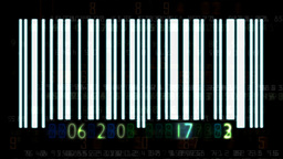 Barcode numbers Stock Video Footage