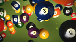 Billiard balls background Stock Video Footage
