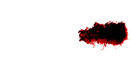 Blood splatter slow flowing Stock Video Footage