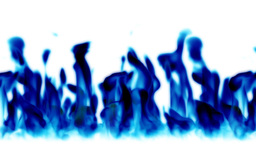 Blue flames background,seamless loop Stock Video Footage