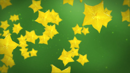Carambola yellow star fruit Stock Video Footage