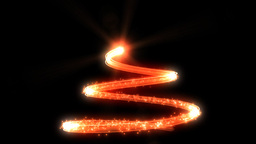 Christmas tree red glow, abstract shape Animation