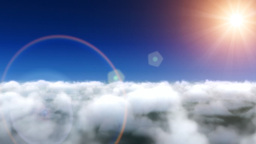 Clouds fly and lens flare Stock Video Footage