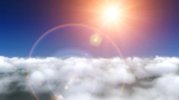 Clouds fly and lens flare Animation