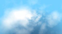 Clouds fly trough rain,loop Stock Video Footage
