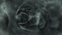 Flying through dark clouds tunnel,loop Stock Video Footage