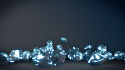 Diamonds falling on the floor Stock Video Footage
