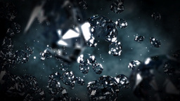 Diamonds flying in front of the camera Stock Video Footage