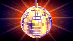 Discotheque Globe,light rays behind,LOOP Stock Video Footage