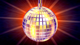 Discotheque Globe,light rays behind,LOOP Animation