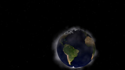 Animated Earth and clouds Animation