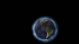 Animated Earth and clouds Stock Video Footage