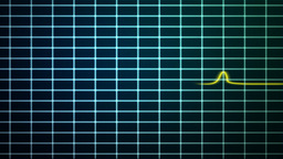 EKG scanner with red and yellow stroke waves Animation