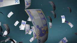 EURO bill flying Stock Video Footage