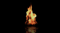 Fire tongue against black Stock Video Footage
