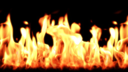 Flames,seamless loop Stock Video Footage