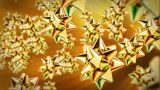 Golden Gift Ribbon Flying stock footage