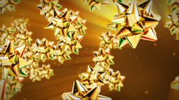 Golden gift ribbon flying Animation
