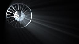 Industrial Fan with Volumetric Light, seamless loop Stock Video Footage