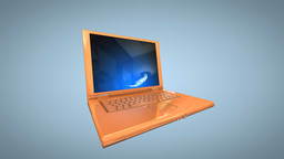 Laptop animation with internet symbol Stock Video Footage