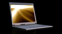 Laptop with animated lights Stock Video Footage
