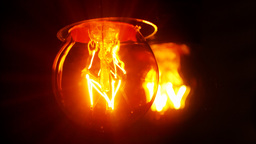 Light bulb flickering,blurred mirror reflection,looping Stock Video Footage