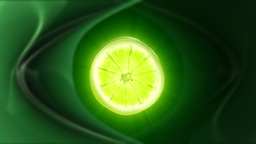 Lime slice,seamless loop Stock Video Footage